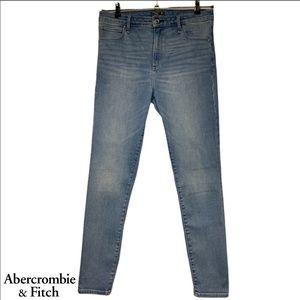 A&F High Rise Super Skinny Jeans